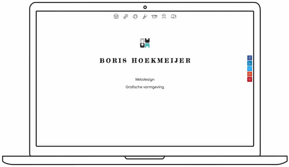 screenshot homepage nieuwe website boris hoekmeijer