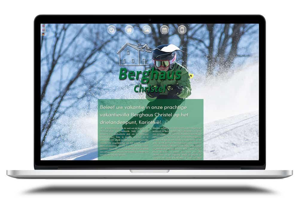homepage ontwerp Berghaus Christel