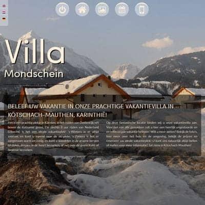 link naar portfolio item vakantievilla verhuur website concept