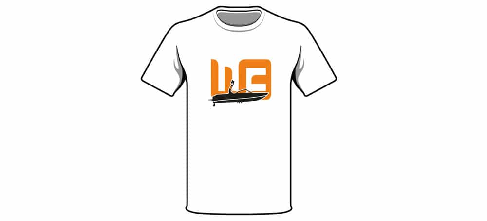 t-shirt ontwerp wakeboarder