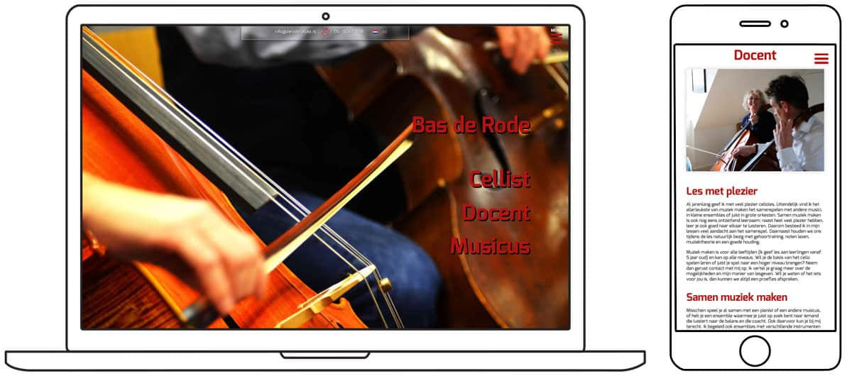 Portfolio Boris Hoekmeijer Website Ontwerp De Rode Cellist