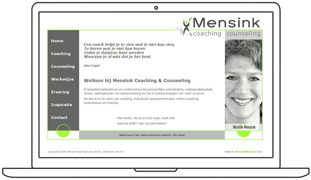 website ontwerp Mensink Coaching