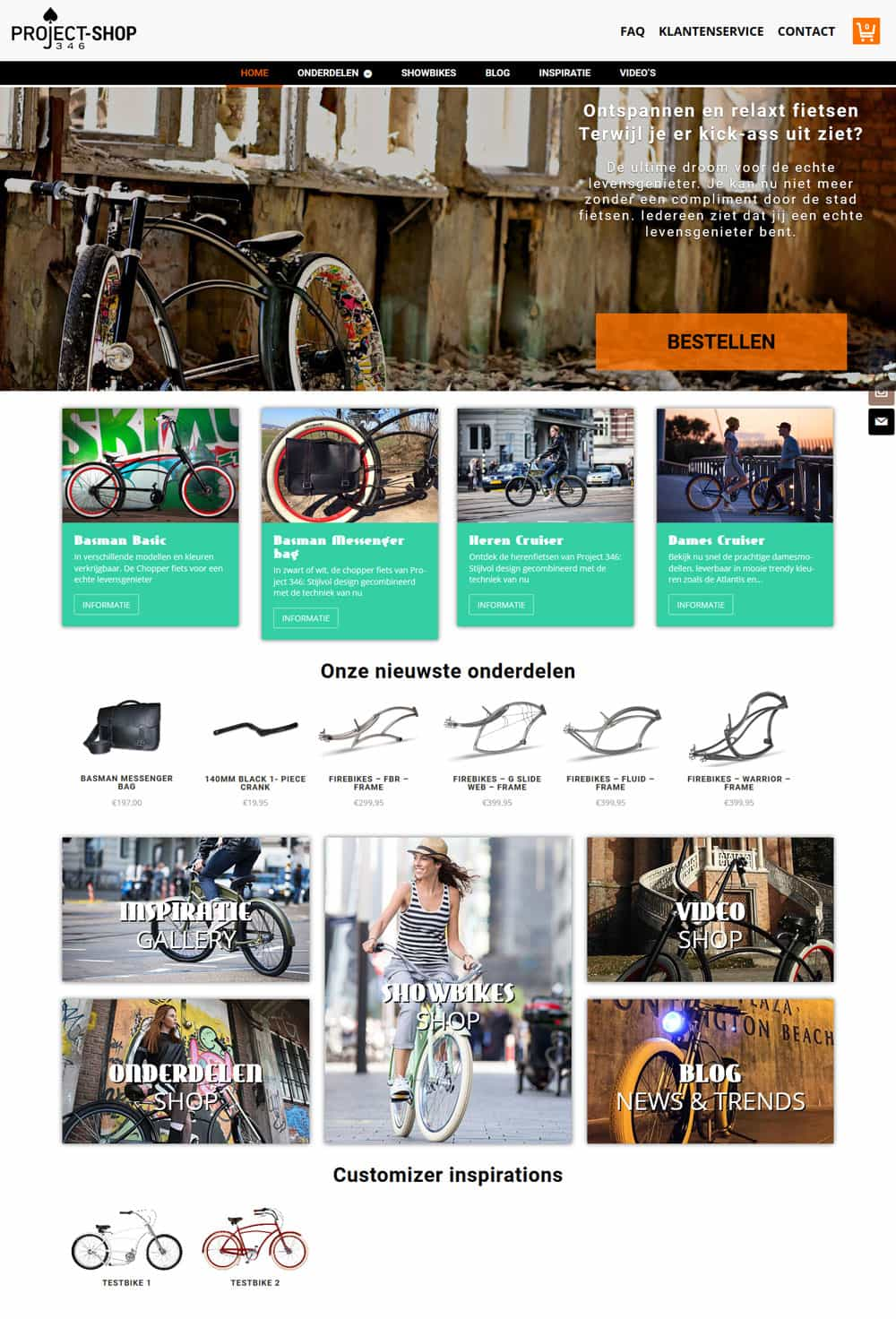 portfolio item website ontwerp project346shop homepage compleet