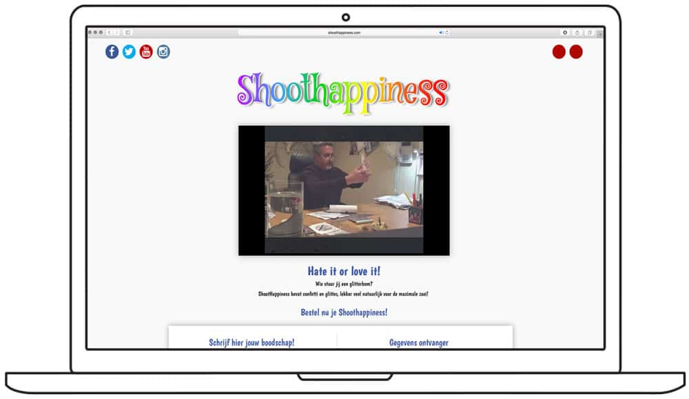 website ontwerp shoothappiness-homepage