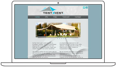 ontwerp website tent4rent