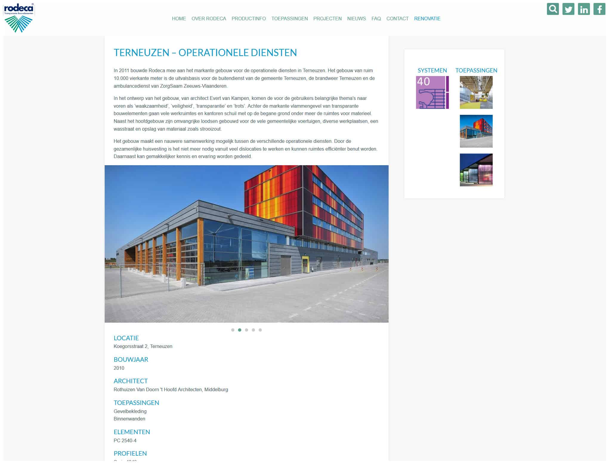 Rodeca Nieuwe Website Project Pagina Boris Hoekmeijer Webdesign