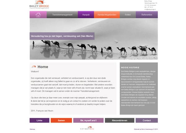 website ontwerp bailey bridge